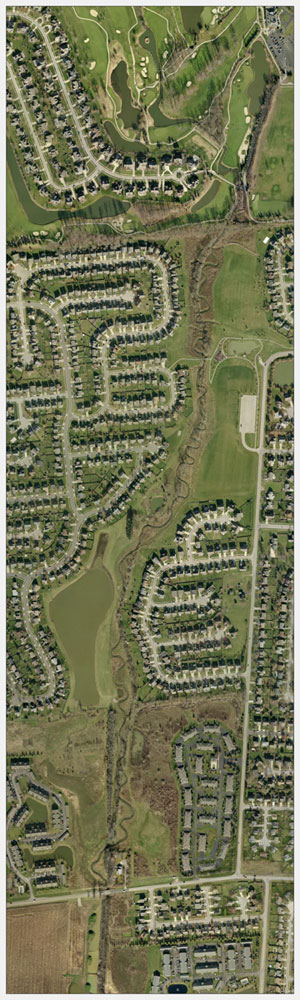 Aerial View of Subdivision
